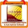 Thumbnail 180 Mixed Niches PLR Articles + Easy Auto Spinner Software