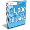 Thumbnail Get 1000 Subscribers In 30 Days - eBook with MRR