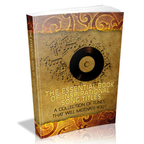 Product picture The Essential Book Of Inspirational Song Titles with MRR