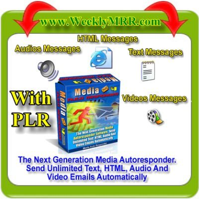 Product picture PLR Media Autoresponders: Send HTML, Audio, Video Emails
