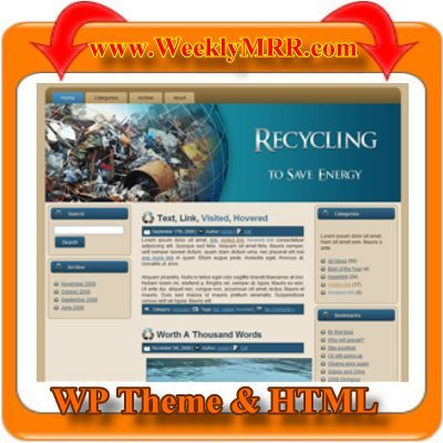 Product picture Recycling Wordpress Theme and HTML Site - Ready to use.