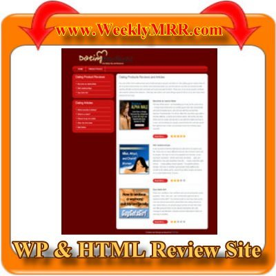 Product picture Dating Review Site WP and HTML Review Theme -Ready to use