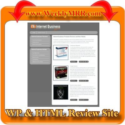 Product picture Internet Business Review Site WP and HTML Review Theme