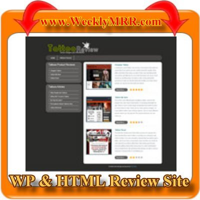 Product picture Tattoo Review Site WP and HTML Review Theme -Ready to use