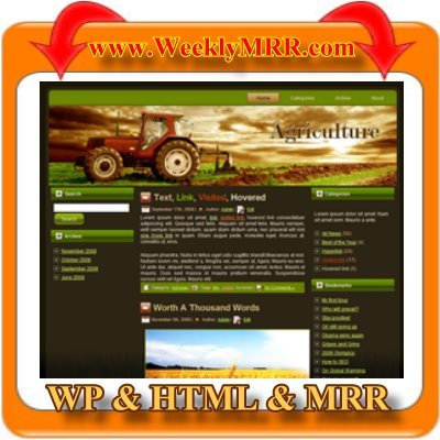 Product picture Tractor WordPress Theme and HTML Site with MRR